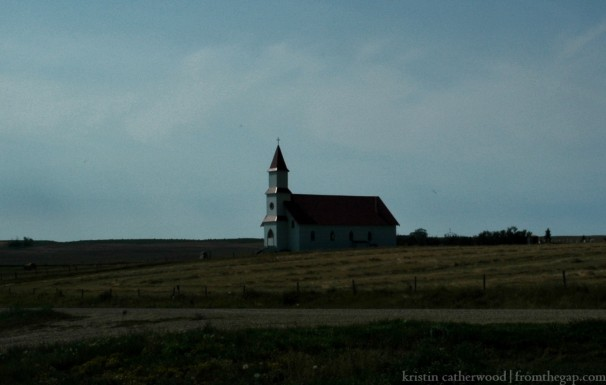 A true country church, though there is an old schoolhouse across the road and a couple of abandoned farms. Though isolated and lonely now, this spot was no doubt once the centre of a rural community. September 2, 2013.