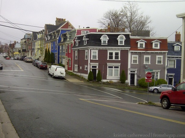 Cochrane Street and Gower Street, St. John's. November 3, 2012.