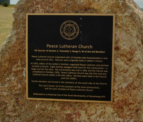 Peace Church Sign